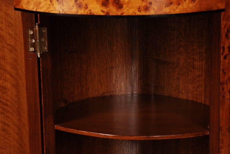 Birdseye Maple Rotunda Cupboard in Biedermeier Style For Sale