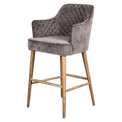 Rouen Bar Stools with Arms, 20th Century
