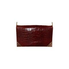 Rouge  Alligator  Shoulder Bag - Judith Leiber for Bonwit Teller