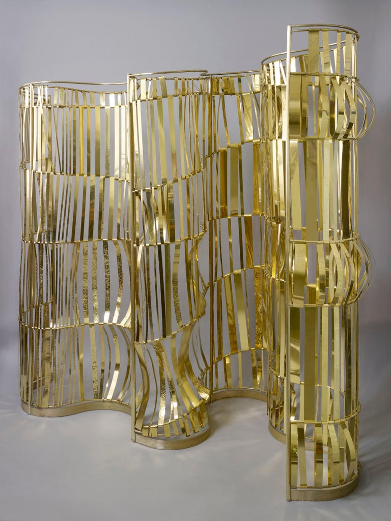 Contemporary Rough Sea Screen, Room Divider by Artist Taher Chemirik, 2012 For Sale