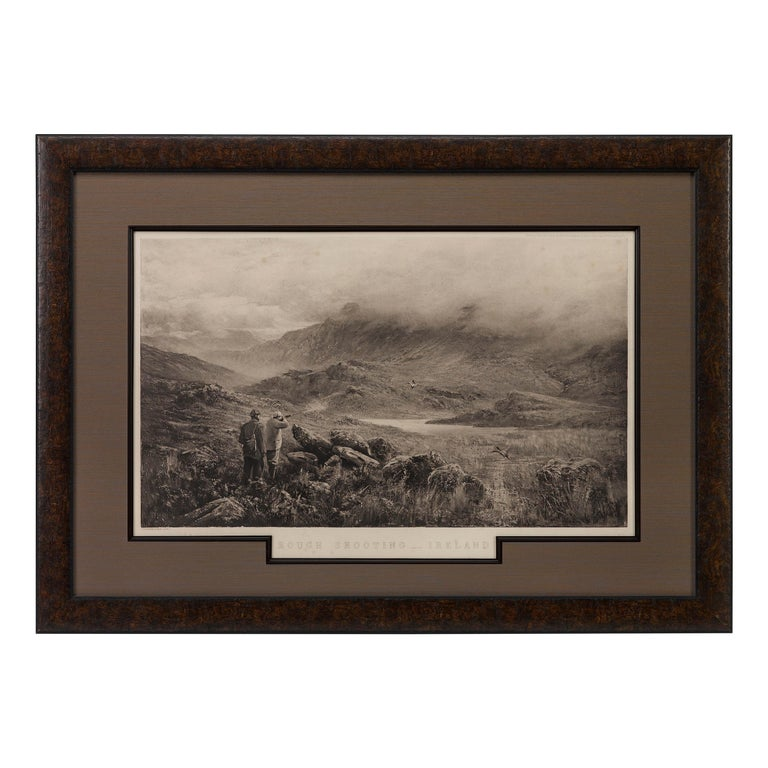 """""""Rough Shooting"""" First Edition Antique Engraving by Douglas Adams, circa 1893 For Sale"""