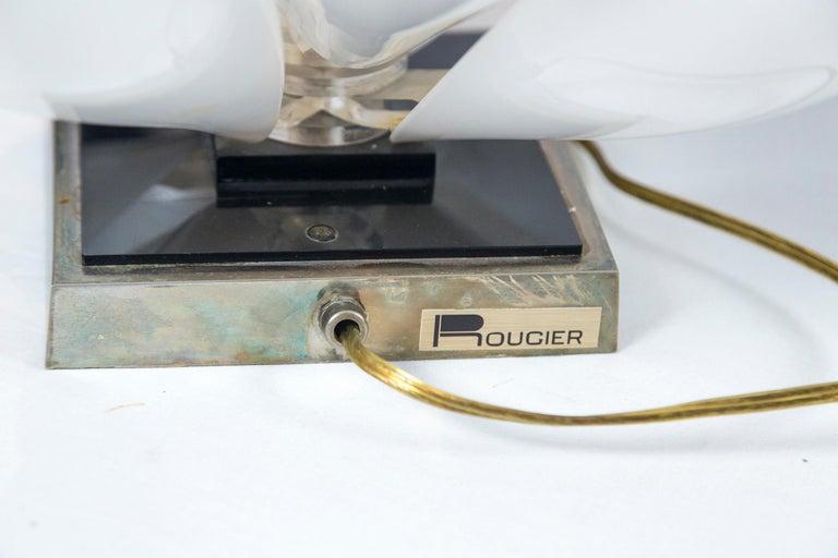 Rougier Lucite Lotus Lamp For Sale 3