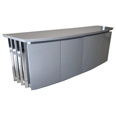 Rougier Postmodern Lacquer and Chrome Credenza