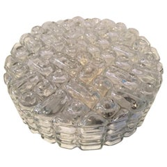 Round 1970s Flush Mount Lamp Erco Oblong Glass Bubble from Germany