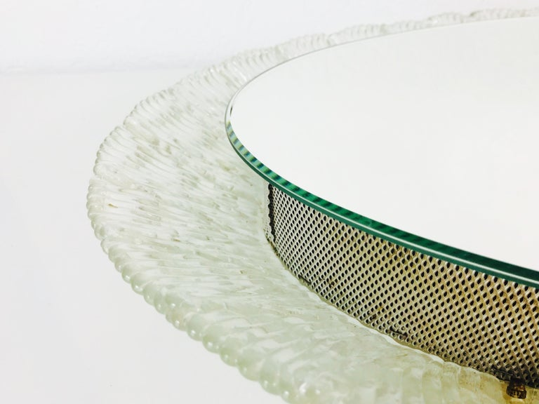Round Acrylic Illuminated Mirror from Hillebrand Lighting, 1970s For Sale 3