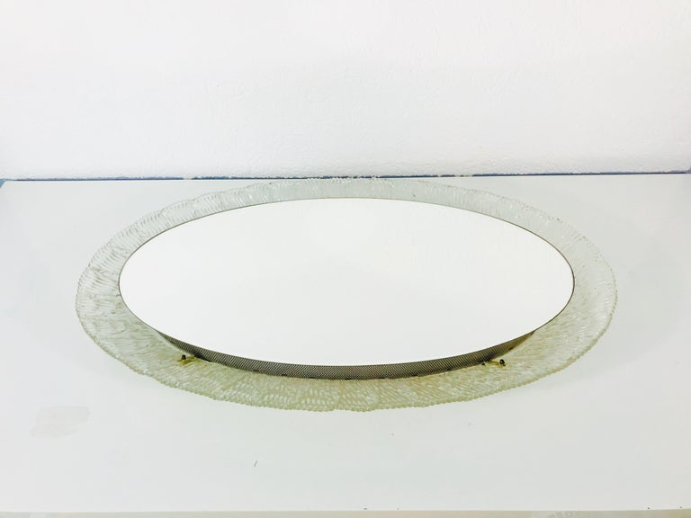 Round Acrylic Illuminated Mirror from Hillebrand Lighting, 1970s For Sale 2