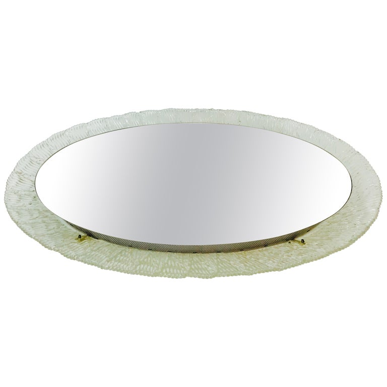 Round Acrylic Illuminated Mirror from Hillebrand Lighting, 1970s For Sale