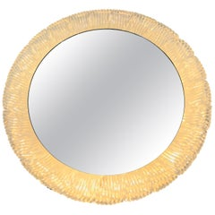 Round Acrylic Illuminated Mirror from Hillebrand Lighting, 1970s