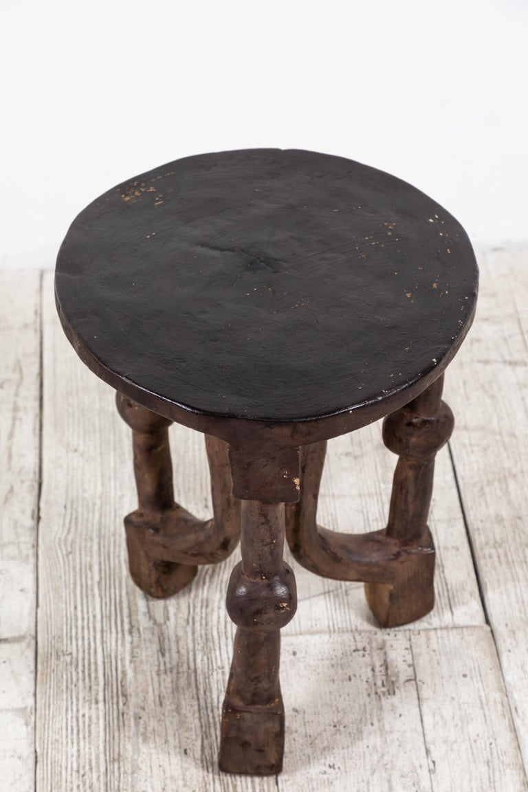 Malian Round African Stool from Mali For Sale