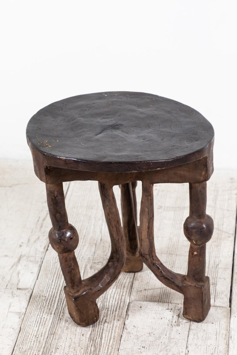 Late 20th Century Round African Stool from Mali For Sale