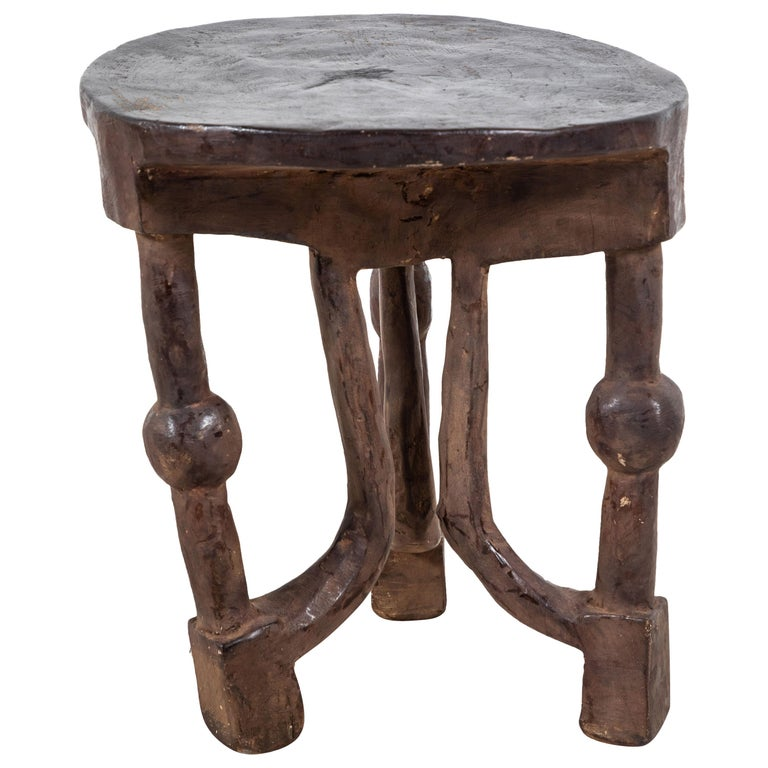 Round African Stool from Mali For Sale