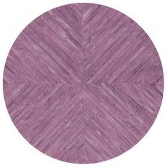 Round Amethyst Customizable La Quinta Cowhide Area Floor Rug X-Large