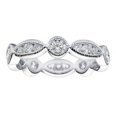 Round and Illusion Marquee Eternity Band