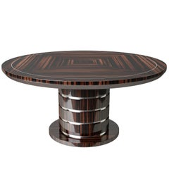 Round Art Deco Style Dining Table