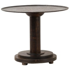 Round Art Deco Table with Iron Table Top