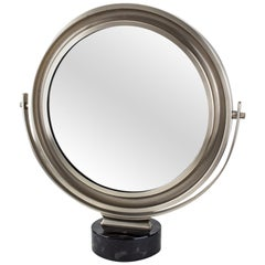 Round Artemide Table Mirror Sergio Mazza, Italy, 1960s
