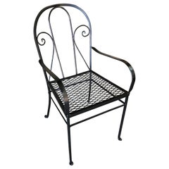 Round Back Iron Patio/Outdoor Lounge Chair