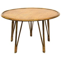 Round Bamboo Table