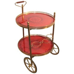 Round bar cart 1950s Italian design