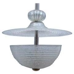 Round Barovier Lantern Ruggiadoso Midcentury Italian Design Mushroom Pulegoso