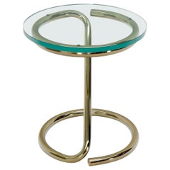Round Bauhaus Style Side Table