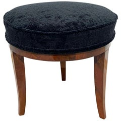Round Biedermeier Stool / Pouff, South Germany, circa 1820