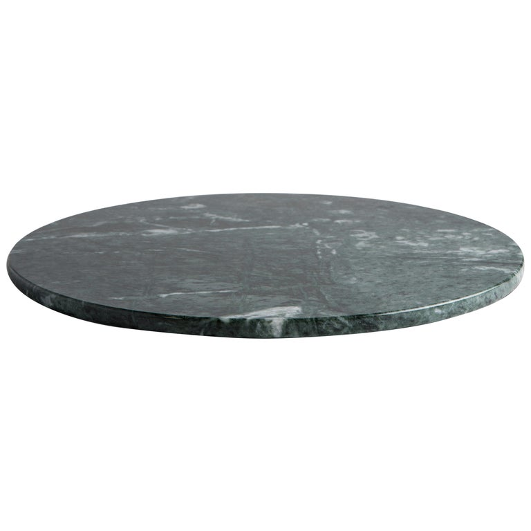 Italian Round Black Marble Cheese Plate For Sale