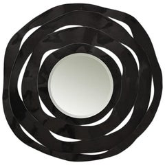 Round Black Ribbon Mirror