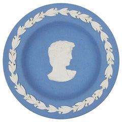 Round Blue Wedgwood Collectors Society Jasperware Dish of Caesar, England