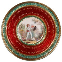 Round Bonbonniere in Gold and Enamel, Louis XVI Period, 1779