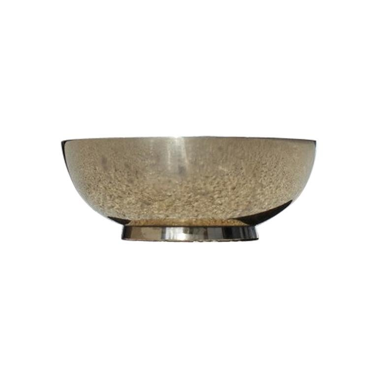 Round Bowl in Solid Gilded Brass Italian Design, 1950, Midcentury
