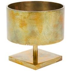 Round Brass Candleholder