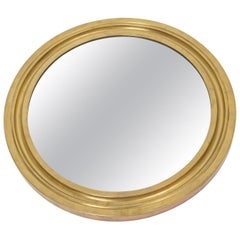 Round Brass Framed Mirror, circa 1960