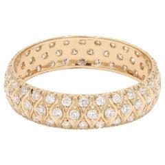 Round Brilliant Cut Diamond 18 Karat Yellow Gold Wedding Ring
