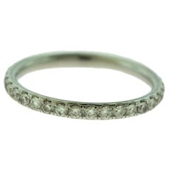 Round Brilliant Cut Diamond 18k White Gold, 4.5 Full Eternity Wedding Band Ring