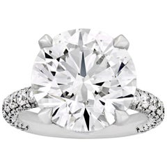 Round Brilliant-Cut Diamond Ring, 9.07 Carat