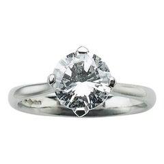 Solitaire Diamond 2.00 Carat Platinum Ring