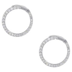 Round Brilliant Diamond Circle Earrings