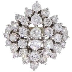 Round Brilliant Diamond Cluster Ring