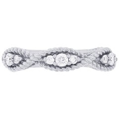 Round Brilliant Diamond Crescent Style Ring