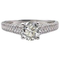 Round Brilliant Diamond Engagement Ring 1.40 Carat 18 Karat Gold
