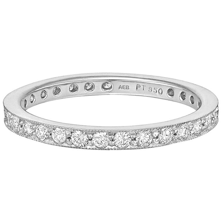 Round Brilliant Diamond Eternity Band '0.66 Carat' For Sale