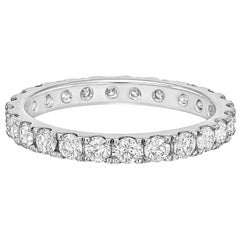 Round Brilliant Diamond Eternity Band '1.15 Carat'