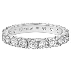 Round Brilliant Diamond Eternity Band '1.40 Carat'