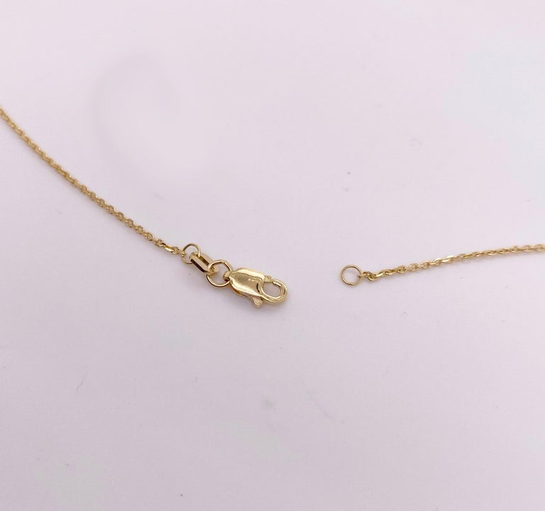 Modern Round Brilliant Diamond & Gold Disk Pendant 14k Gold Engravable Necklace For Sale
