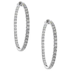 Round Brilliant Diamond Inside Out Hoops