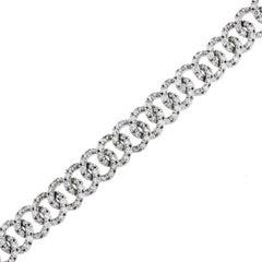 Round Brilliant Diamond Interlocking Ring Bracelet