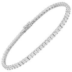Round Brilliant Diamond Line Bracelet '4 Carat'