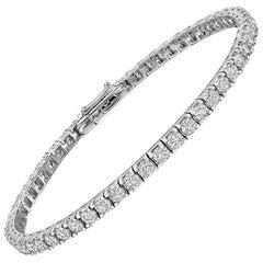 Round Brilliant Diamond Line Bracelet '5 Carat'