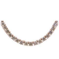 Round Brilliant Diamond Men's Tennis Necklace